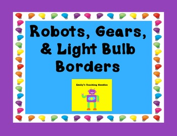 Robot Theme Bulletin Board Borders