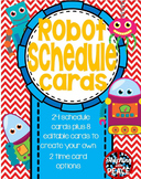 Robot Theme Class Schedule Cards **editable**