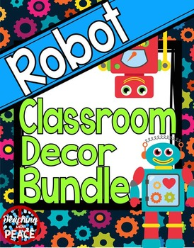 Robot Theme Classroom Decor Bundle