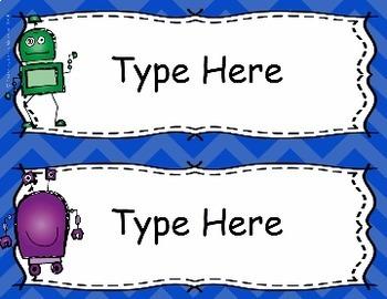 Robot Theme Classroom Decor Pack
