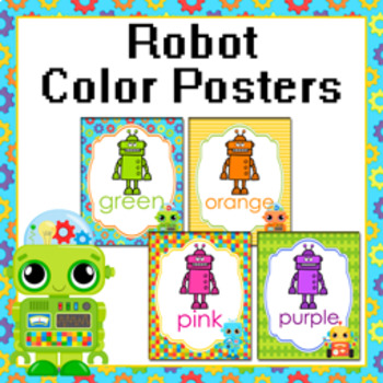 Robot Theme Color Posters