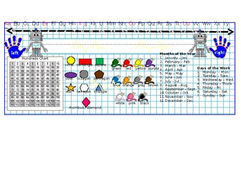 Robot Theme Desk Name Plate (editable)