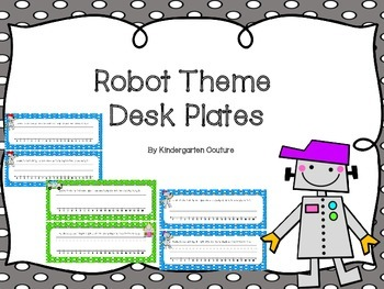 Robot Theme Desk Plates
