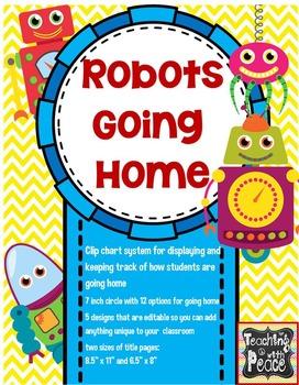 Robot Theme Going Home Chart System *editable*