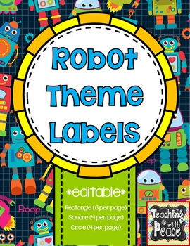 Robot Theme Labels *editable*