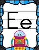 Robot Theme Print Alphabet with Pictures Posters *including Spanish letters*