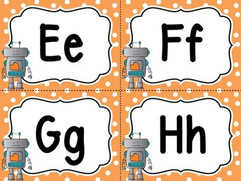 Robot Word Wall And 200 Fry Words Editable