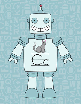 Robot Themed Alphabet Posters