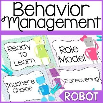 Robot Themed Behavior Clip Chart