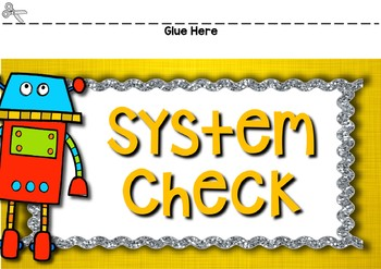 Robot Behavior Clip Chart with EDITABLE Pages