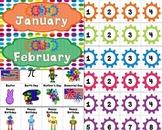 Robot Themed Classroom Calendar