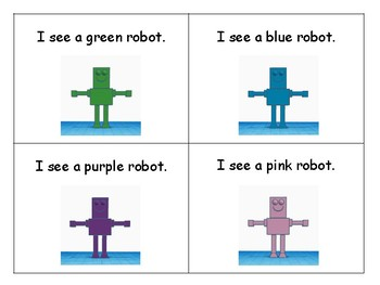 Robot-Themed Color Word Book and Activities Freebie
