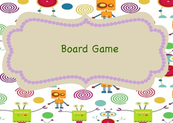 Robot Themed, Customizable Board Game