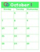 Robot Themed Monthly Calendar and Notes 2013-2014