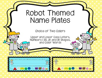 Robot Themed Name Plate