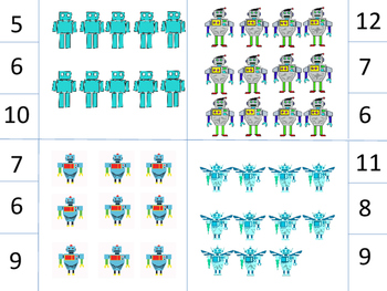 Robot Themed Special Education Math Centers for kindergarten/1st/2nd