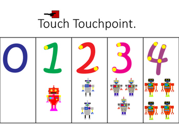 Robot Themed Special Education Math Centers for kindergart