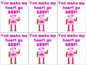 Robot Themed Valentine's Cards