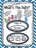 """Robot Themed """"What's the Date?"""" Writer's Workshop Date Posters"""
