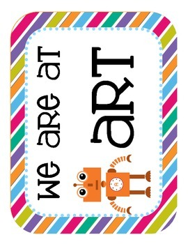 """Robots Themed """"Where We Are"""" Cards"""