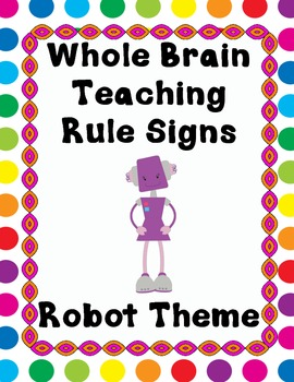 Robot Themed Whole Brain Teaching Rules Sign