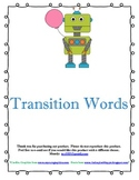 Robot Transition Word Posters