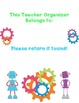 Robot Ultimate Teacher Organizer Cover