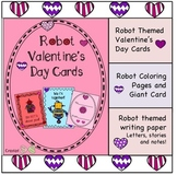 Robot Valentine's Day Cards/Writing Pack