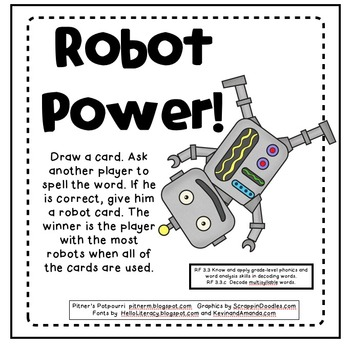 Robot Vowels: Activities for Long and Short Vowels