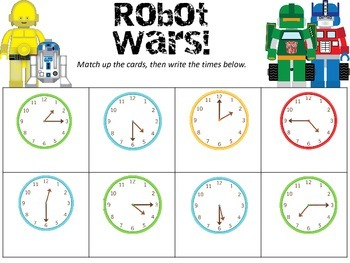 Robot Wars:  A Time Matching Game