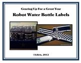 Robot Water Bottle Labels
