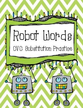Robot Words: CVC Phoneme Substitution Practice