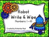 Robot Write & Wipe - Numbers 1-10 FREEBIE!