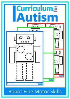 Fine Motor Tracing Pre-Writing Skills Robots  Autism Special Education OT