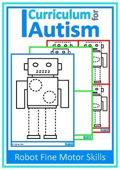 Autism, Robot Fine Motor Tracing, Pre-Writing, Special Edu