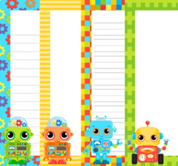 Robot Writing Paper - 3 Styles