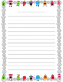 Robot Writing Paper - Primary
