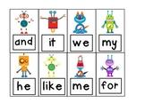 Robot Zap- sight words from Kindergarten Reading Street