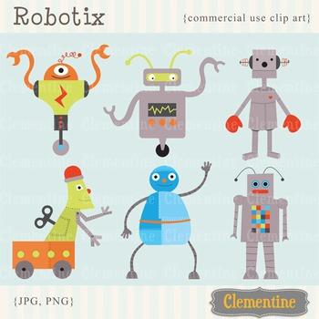 Robot clip art images
