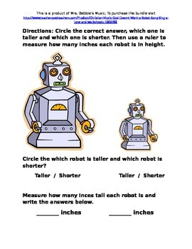 Robot free worksheet