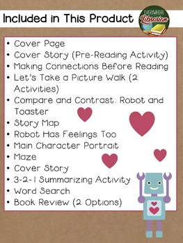 Robot in Love by McBeth 15 NO PREP Literacy Extension Activities