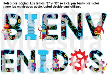 Robot theme Spanish Decor Bundle