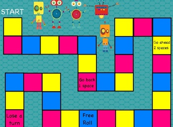Robot-themed Customary Measurement Board Game