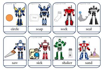 Robotic Articulation R and S Words