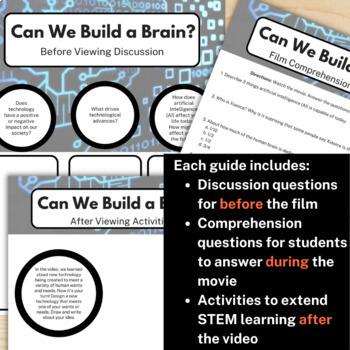 STEM Movie Worksheets - Robotics Bundle (save 25%)
