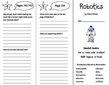 Robotics Trifold - Journeys 6th Grade Unit 5 Week 5 (2014, 2017)