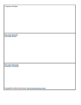 Robotics Video Worksheet - great for a sub day or quick time filler