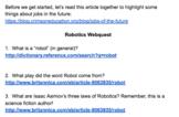 Robotics Webquest