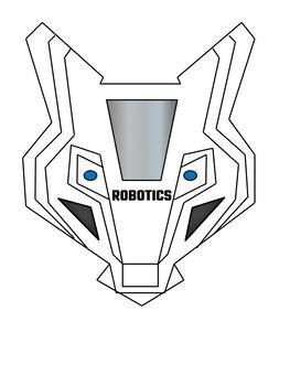 Robotics Wolf Mascot Logo