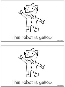 Robots - A Color Word Emergent Reader